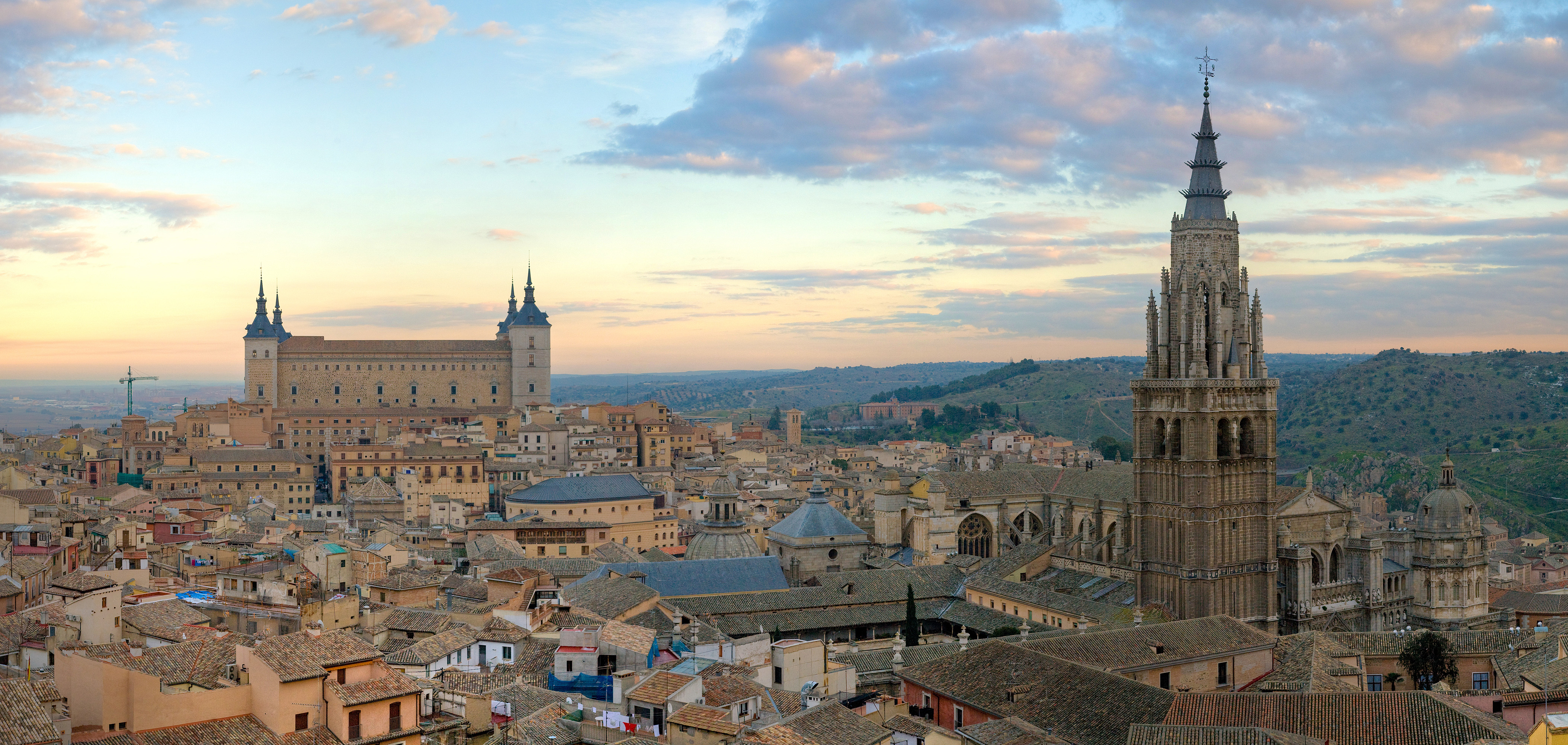 Skyline of the old part of Toledo